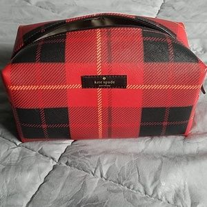Kate Spade Medium Cosmetic Bag Plaid
